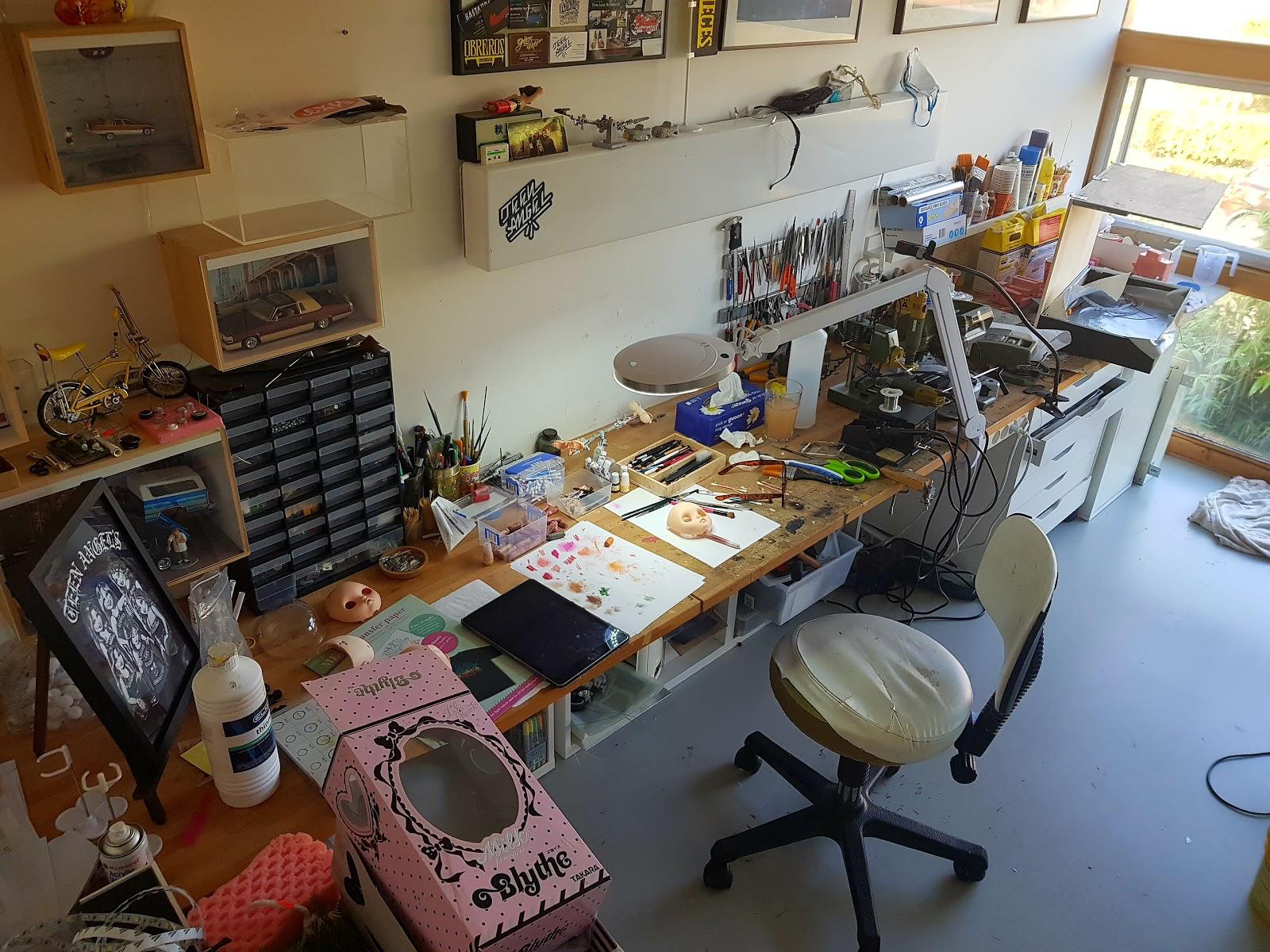 Jeroen's dedicated workplace.